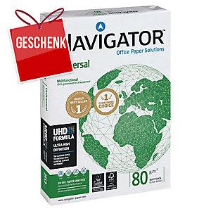 Kopierpapier Navigator Universal A4, 80 g/m2, FSC, Packung à 500 Blatt
