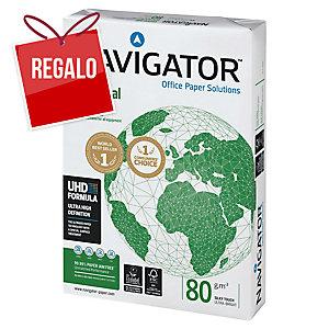 Caja 5 paquetes 500 hojas papel NAVIGATOR Universal A4 80g/m2 blanco