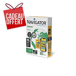 Ramette 500 feuilles papier navigator 80g A4 blanc fsc