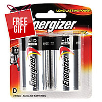 ENERGIZER MAX D BATTERY - PACK OF 2