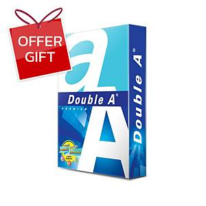 DOUBLE A COPY PAPER A4 80G WHITE 500 SHEETS/REAM - 5 REAMS/BOX