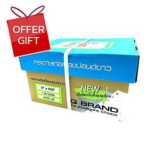 IQ Continuous Paper 1 Ply Plain 9   X 5.5   - Box of 4,000 Sheets