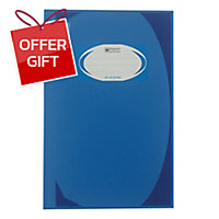 ELEPHANT HC-102 HARD COVER NOTEBOOK 210MM X 320MM 70G 100 SHEETS BLUE