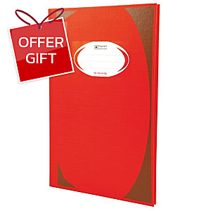 ELEPHANT HC-103 HARD COVER NOTEBOOK 210MM X 320MM 70G 100 SHEETS RED