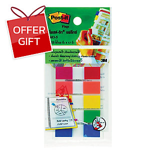 POST-IT 683-5CF FLAGS 0.5  X 1.7  - 5 COLOURS - 125 FLAGS