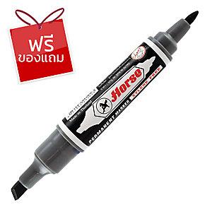 ตราม้า ปากกาเคมี2 หัวหัวกลม 2มม. หัวตัด 3-5มม. ดำ