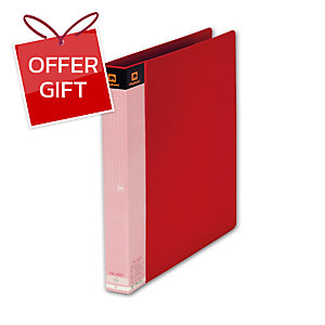ELEPHANT 420 2 O-RING BINDER FOLDER A4 1   RED