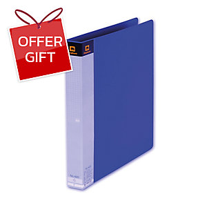 ELEPHANT 420 2 O-RING BINDER FOLDER A4 1   BLUE
