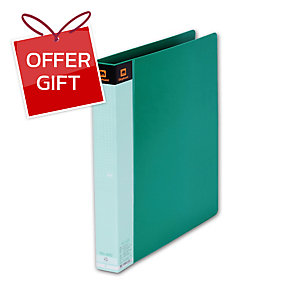 ELEPHANT 420 2 O-RING BINDER FOLDER A4 1   GREEN