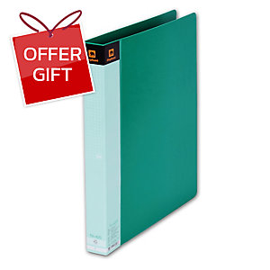 ELEPHANT 420 2-O-RING BINDER FOLDER F 1   GREEN