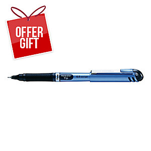 PENTEL ENERGEL NEEDLE POINT PEN 0.5 BLU