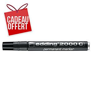 Marqueur permanent Edding 2000 - pointe ogive moyenne - noir