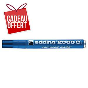 Marqueur permanent Edding 2000 - pointe ogive moyenne - bleu