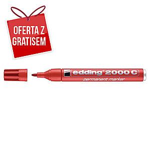 Marker permanentny EDDING 2000 C, okrągła końcówka, czerwony