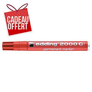 Marqueur permanent Edding 2000 - pointe ogive moyenne - rouge