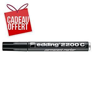 Marqueur permanent Edding 2200 - pointe biseautée 1 à 5 mm - noir