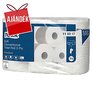 Tork Premium 110317 toalettpapír, 3-rétegű,6 tekercs/csomag
