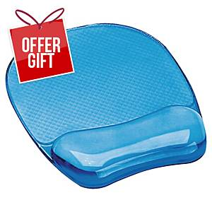 Fellowes 91141 Crystal Gel Mouse Pad And Wrist Rest