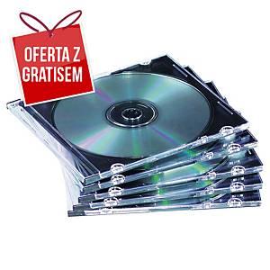 Pudełko na płytę FELLOWES typ   slim  , w opakowaniu 25 sztuk