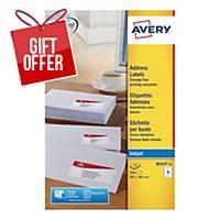 Avery J8163-25  Labels, 99.1 x 38.1 mm 14 Labels Per Sheet, 350 Labels Per Pack