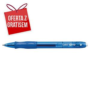 Automatyczny długopis żelowy BIC Gelocity, niebieski