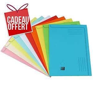 Chemise coin Elba - coloris assortis - paquet de 50