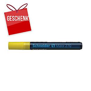 Lackmarker Schneider 270, Rundspitze, Strichstärke: 1-3mm, gelb