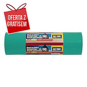 Worki na śmieci LDPE biodegradowalne 160 l, zielone, 10 sztuk