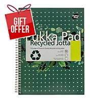 Pukka White A4 Recycled Wirebound Pads (Ruled/Margin) - Pack of 5 (5X55 Sheets)