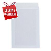 Koperty wzmacniane kartonem C4, 229X324 mm, białe, 10 sztuk