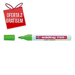 Marker olejowy EDDING 750, okrągła końcówka, zielony