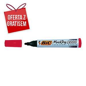 Marker permanentny BIC Marking 2000, okrągła końcówka, czerwony