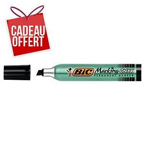 Marqueur permanent Bic Onyx Marker 1591 - pointe biseautée 3 à 5,5 mm - noir
