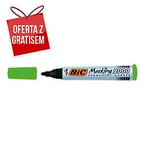 Marker permanentny BIC Marking 2000, okrągła końcówka, zielony