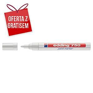 Marker olejowy EDDING 750, okrągła końcówka, biały
