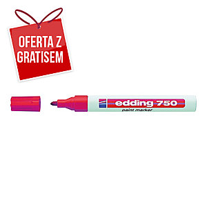 Marker olejowy EDDING 750, okrągła końcówka, czerwony