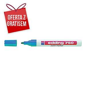 Marker olejowy EDDING 750, okrągła końcówka, niebieski