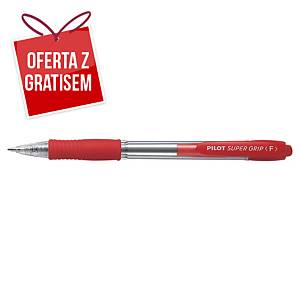 Automatyczny długopis PILOT Super Grip, czerwony
