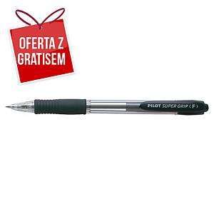 Automatyczny długopis PILOT Super Grip, czarny