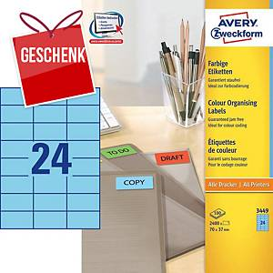 Avery 3449 Universaletiketten 70x37 mm blau
