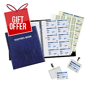 DURABLE VISITORS BOOK - 100 PERFORATED BADGE INSERTS