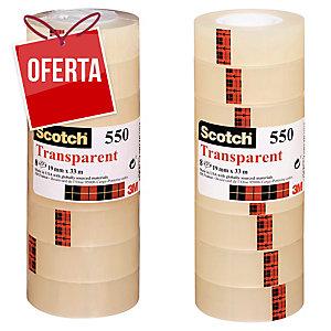 Pack 8 Fitas adesivas Scotch transparente 550 Dimensões: 19 mm x 33 m