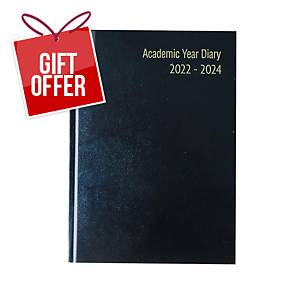 Lyreco Black A5 18-Month Academic Diary - Week To View