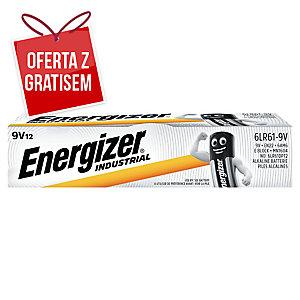 Baterie alkaliczne  ENERGIZER® Industrial 9V, w opakowaniu 12 sztuk