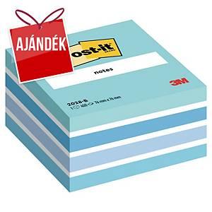 3M Post-it® 2028 Öntapadó jegyzetkocka 76x76mm, kék, 450 lap