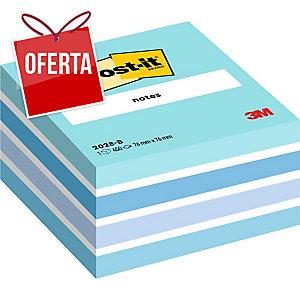 Cubo de 450 notas adesivas Post-it cor azul pastel Dimensões: 76x76mm