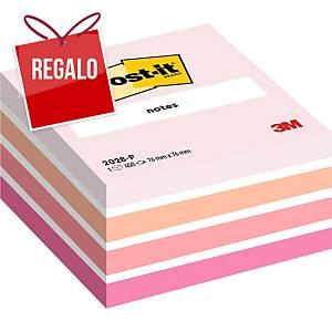 Cubo de 450 notas adhesivas Post-it - rosa pastel - 76x76mm