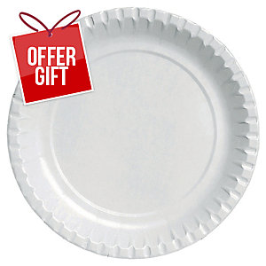 Duni White Paper Plates - Pack Of 100