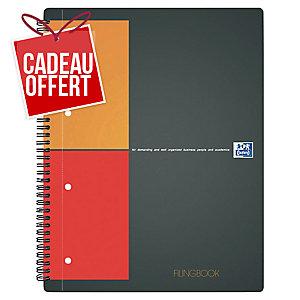Cahier spirale Oxford Filingbook A4+ - 200 pages - quadrillé