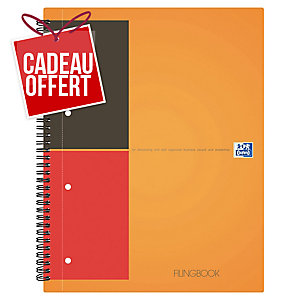 Cahier spirale Oxford Filingbook A4+ - 200 pages - ligné